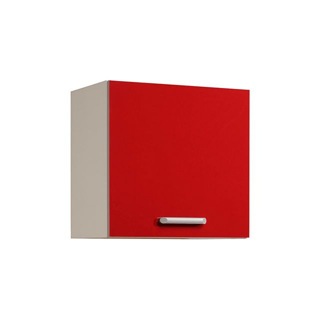Meuble haut L60xH58xP36cm - rouge brillant