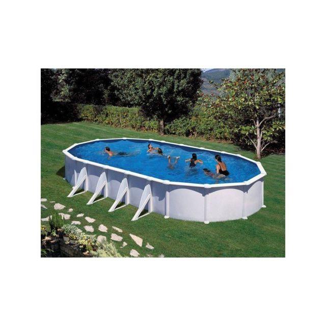 Gre pools kit piscine hors sol acier ovale atlantis avec - Piscine hors sol acier pas cher ...
