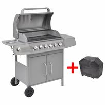 Vidaxl - barbecue grill à gaz 6+1 foyers argenté