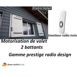 pratic volet motorisation radio volets battants prestige radio design 2 vantaux pas cher. Black Bedroom Furniture Sets. Home Design Ideas