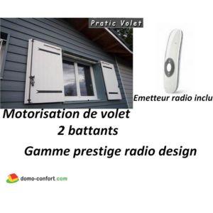 pratic volet motorisation radio volets battants prestige. Black Bedroom Furniture Sets. Home Design Ideas