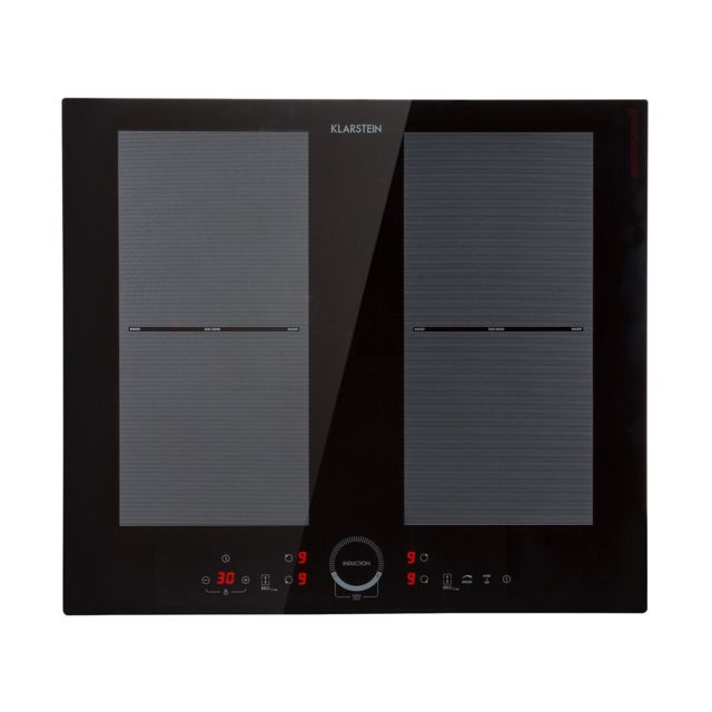 KLARSTEIN Delicatessa 60 Table de cuisson à induction encastrable - 4 zones - 7000W max Vitrocéramique - Noire