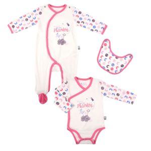 petit beguin kit naissance b b fille petite plan te taille 9 mois 74 cm multicolore pas. Black Bedroom Furniture Sets. Home Design Ideas
