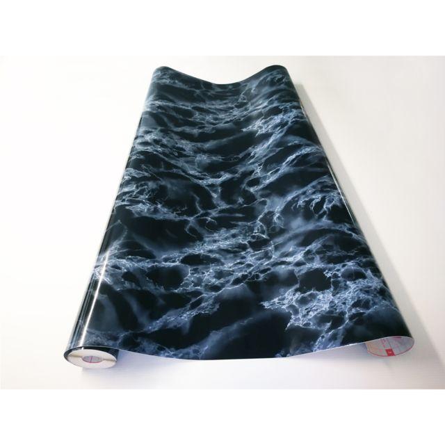 Papier Peint Autocollant Aspect MARBRE ARABESCATO Adzif.biz Le sticker de decoration Rouleau adh/ésif 1 m x 45 cm