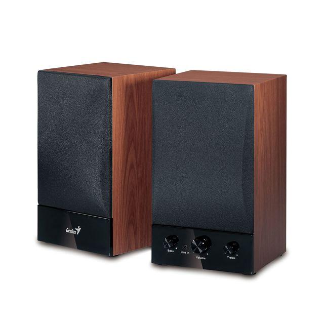 GENIUS Enceintes 40 watts HP SP-HF1250B Puissance 40 watts RMS Driver : woofer 4''4 Ratio signal: 85 db Fonctions: controle volume, aigus, bassePrise jack