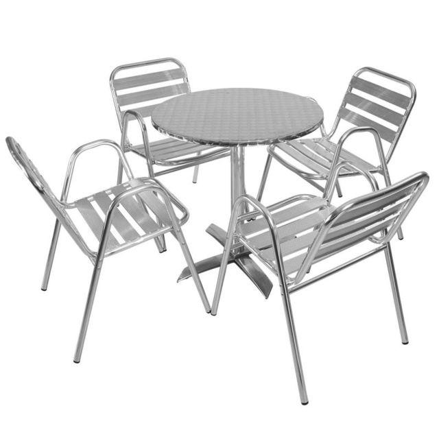 MobEventPro - Salon de jardin Table et chaises terrasse 4 places ...