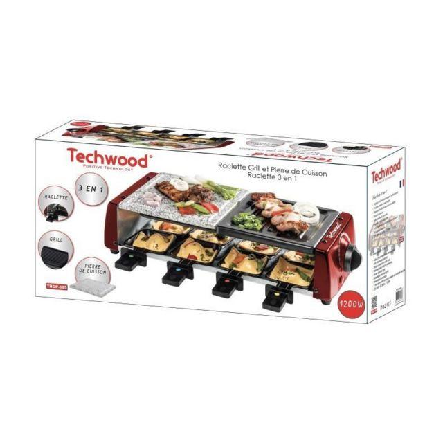 Techwood Trgp 685 Appareil a raclette 8 personnes Rouge