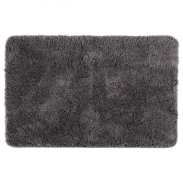 soldes paris prix tapis microfibre salle de bain 60x90cm gris pas cher achat vente tapis. Black Bedroom Furniture Sets. Home Design Ideas