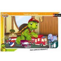 Nathan - Puzzle cadre - 15 pièces - Franklin : Franklin joue au pompier