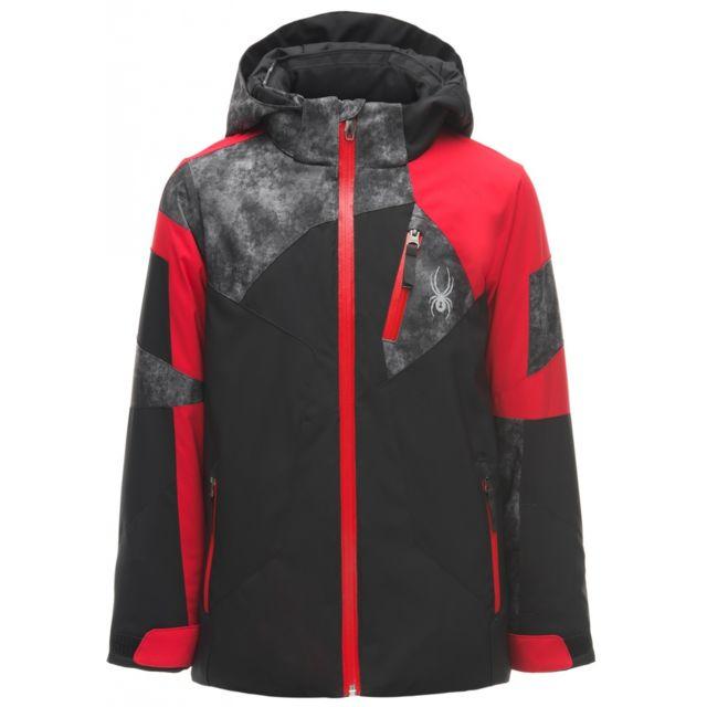 pas De Noir Black Spyder Veste Ski Boy's Leader Red Cdi 8wOPnk0