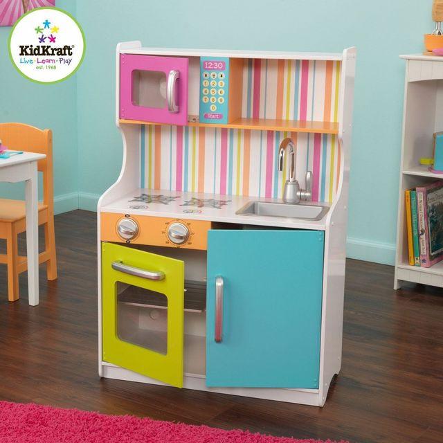 kidkraft nouvelle cuisine enfant au couleurs vives pas cher achat vente maisons de poup es. Black Bedroom Furniture Sets. Home Design Ideas