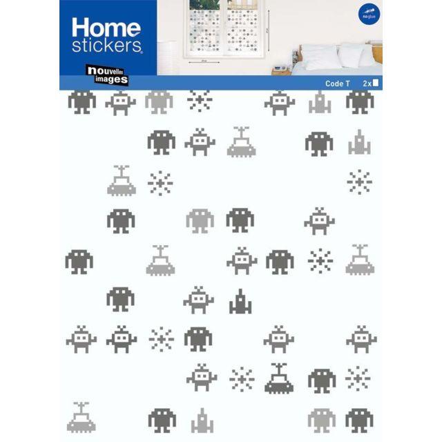 NOUVELLES IMAGES Sticker fenêtre robot et espace