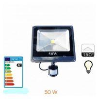 Europalamp - Projecteur Led 50W Detecteur Mouvement 4500k Blanc Neutre