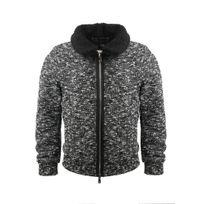 GOV DENIM - Veste en laine homme noir 165022_BK S