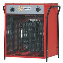 SOVELOR - Chauffage électrique triphasé air pulsé mobile-C22