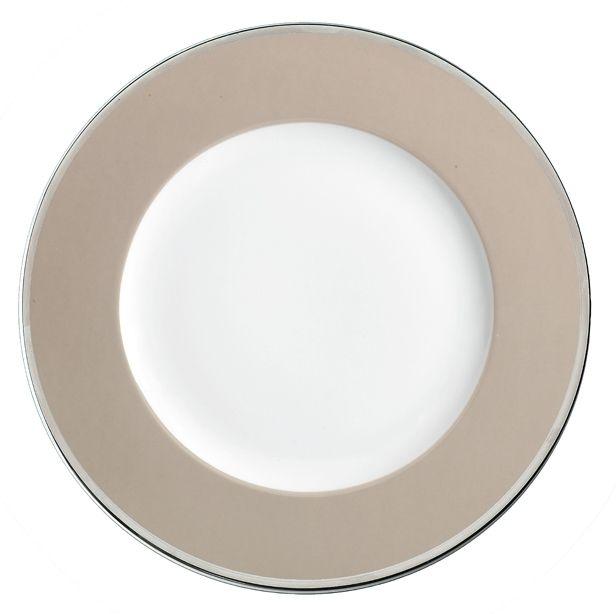Lebrun Assiette plate 27 cm Cercle Taupe
