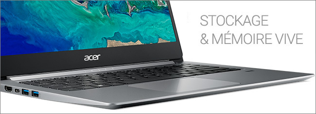 Acer Swift 1 - Stockage