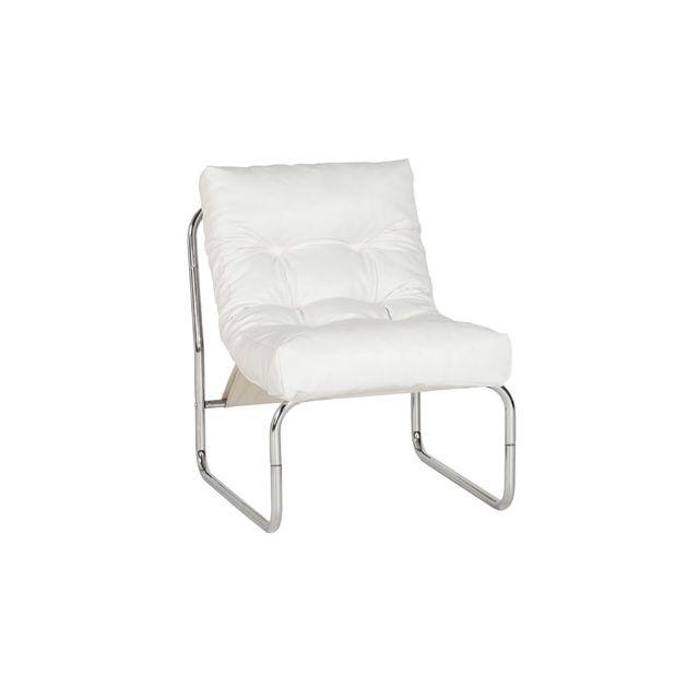 Fauteuil design 60x73x76cm Boudar - blanc