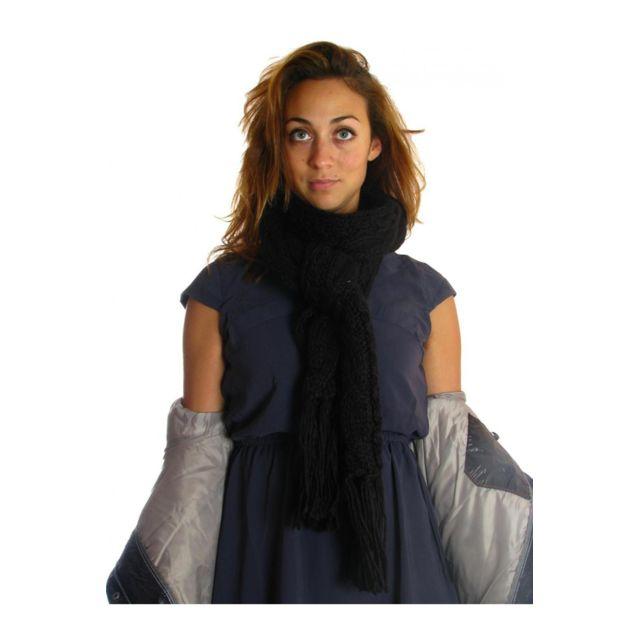fa347150098b Redsoul - Echarpe arzu noir Taille Unique - pas cher Achat   Vente Echarpes,  foulards - RueDuCommerce