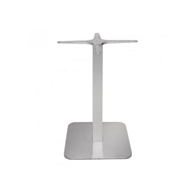 Materiel Chr Pro Pied de table carré en inox Bolero