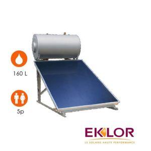 eklor chauffe eau solaire 1 capteur ballon 160 litres. Black Bedroom Furniture Sets. Home Design Ideas