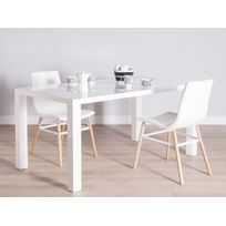 table a manger blanc laquee - achat table a manger blanc laquee