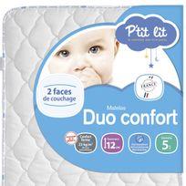 P'TIT Lit - Matelas bébé Duo confort 60 x 120 60 x 120 - Epaisseur 12cm