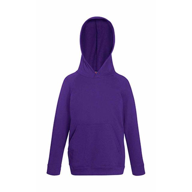c94068ea2b859 Fruit Of The Loom - Sweat-shirt à capuche enfant - 62-009-0 - violet ...