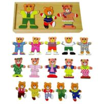 Samsam - Sapin Malin Puzzles Famille Ours a Habiller