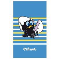 Calimero - drap de plage bleu 070X120 cm 100% coton