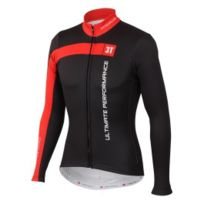 3T - Maillot thermique Team Thermal Jersey Fz noir rouge