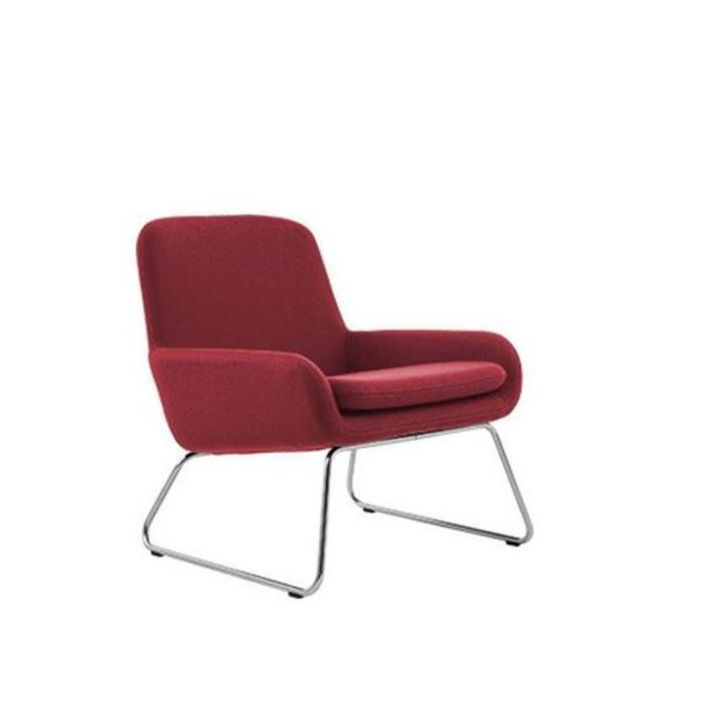 Inside 75 Fauteuil design Coco en tissu rouge Softline