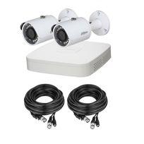 Dahua - Kit Eco 2 Bul 720P – Pack vidéo-surveillance 2 caméras bullet 720P + enregistreur éco