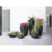 Beliani - Cache-pot - Accessoir de jardin - 23x23x13 cm - Noir - Iseo