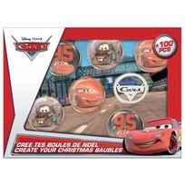 Darpeje - Cars Crée tes Boules de Noël - Kit de Loisirs Créatifs