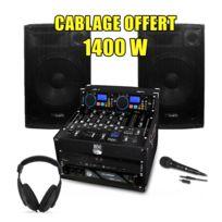 My Deejay - Pack Sono Dj Complet 1400W Ampli Mydj Lecteur Cd