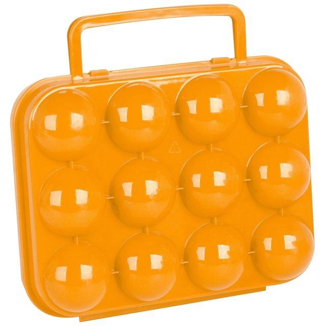 Promobo Boite à Oeuf Mallette De Rangement 12 emplacements Orange