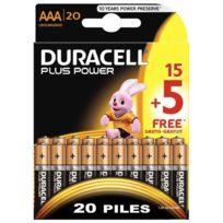 Duracell - blister de 15 + 5 piles plus power 1.5v lr03
