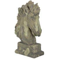 ESSCHERT DESIGN - Tête de cheval décorative en terre cuite