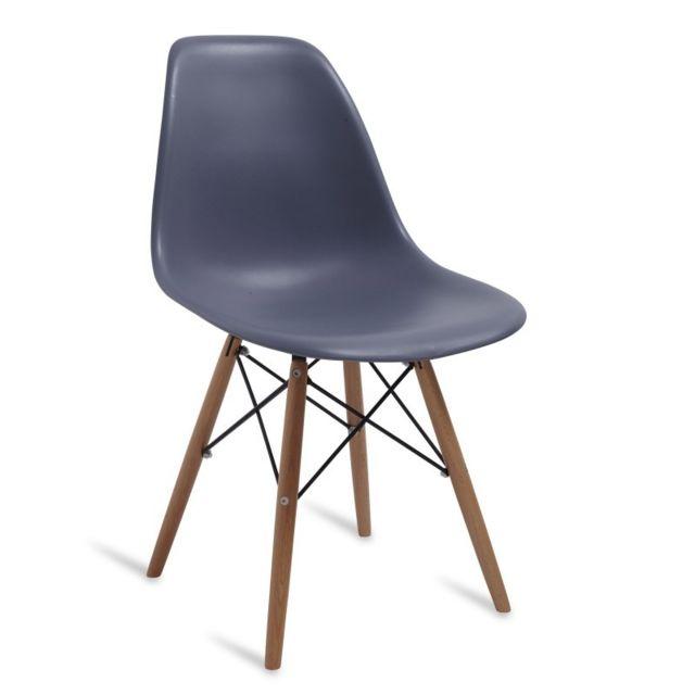 Novara mobili chaise wood style gris pas cher achat for Mobili novara