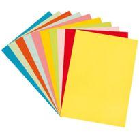 - papier dessin couleur 160g 24x32 assorti - paquet de 100