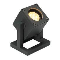 Slv Belgium - Slv - Spot à poser extérieur Cubix Ip44 H12,5 cm - Anthracite
