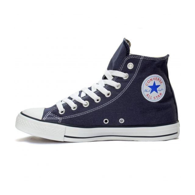 Converse - Fashion / Mode All Star Hi Marine Tige toile, semelle intérieure textile, bout et semelle extérieure caoutchouc.