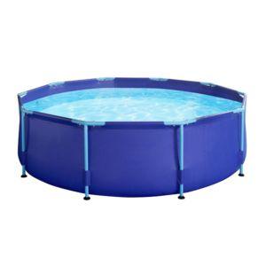 Carrefour kit piscine tubulaire ronde borabora dia 2 44m x h 0 66m od74717 pas cher - Carrefour piscine tubulaire ...