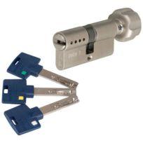 Mul-T-Lock - Cylindre à bouton Interactive + Varié Nickelé 40xB40 mm