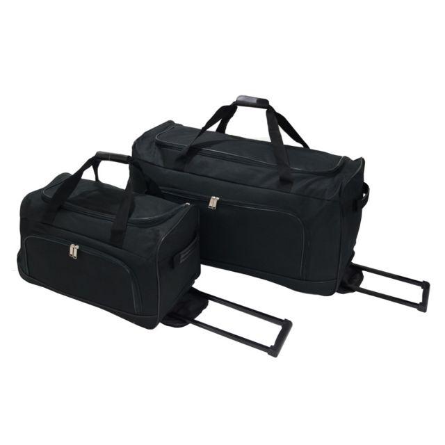 c2de005a36 Utopia - Set de 2 sacs de voyage à roulette Black Cabine/Grande - pas cher  Achat / Vente Sacs de voyage - RueDuCommerce