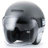 Blauer - casque jet moto scooter Pod fibre titane-gris mat