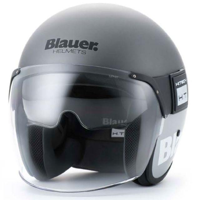 blauer casque jet moto scooter pod fibre titane gris mat pas cher achat vente casques jet. Black Bedroom Furniture Sets. Home Design Ideas
