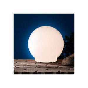 Millumine - Lampe de jardin boule Blanche 40 Deimos classe 2 haute ...