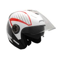 Atrax - Casque Jet Adulte Airspeed - Blanc - Taille M